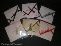 Partecipazioni origami quadrato colori e carte mix